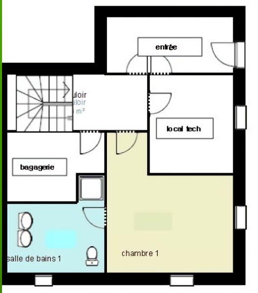Pianta casa vacanze Affitto Casa 115697 Méribel