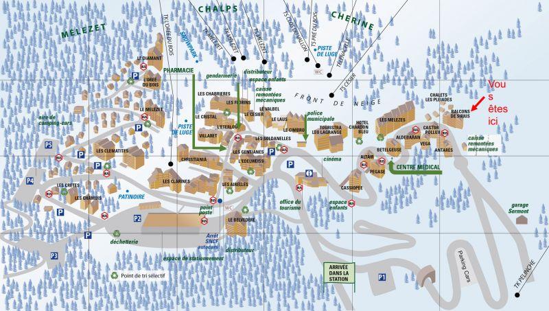 Mappa Affitto Appartamento 117520 Risoul 1850