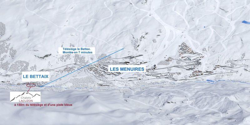 Vista nelle vicinanze Affitto Chalet 100576 Les Menuires