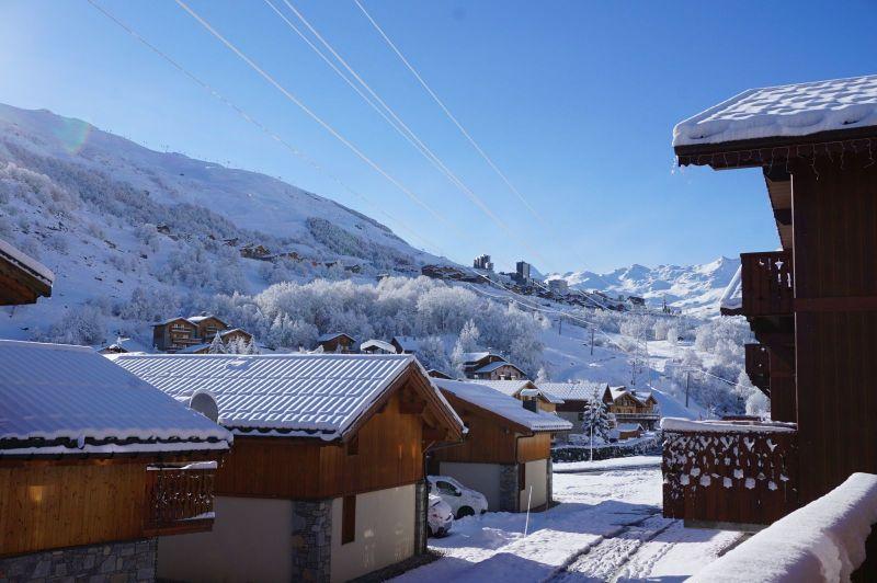 Vista dal balcone Affitto Chalet 100576 Les Menuires