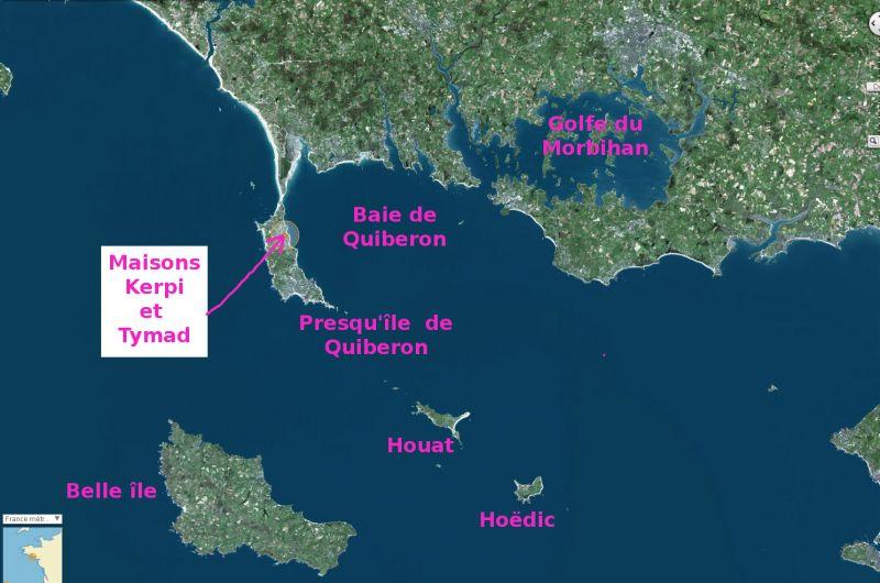 Mappa Affitto Casa 106018 Saint Pierre Quiberon