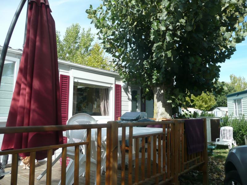 Vista dal terrazzo Affitto Casa mobile 74240 Vias Plage