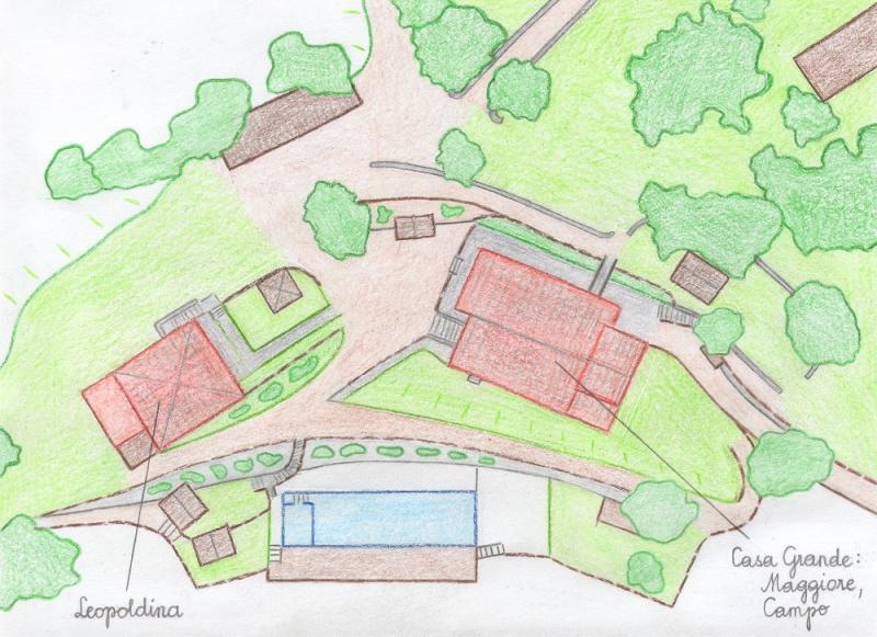 Pianta casa vacanze Affitto Villa  75874 Siena