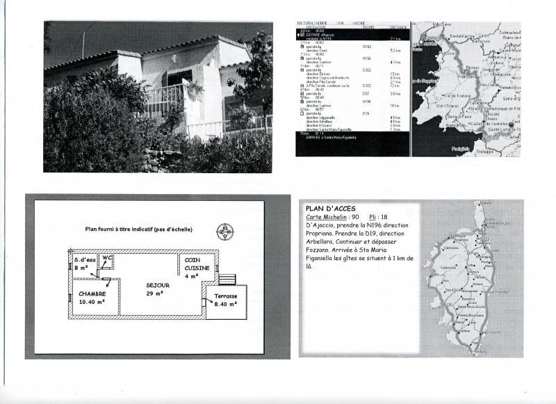 Pianta casa vacanze Affitto Agriturismo 82139 Propriano