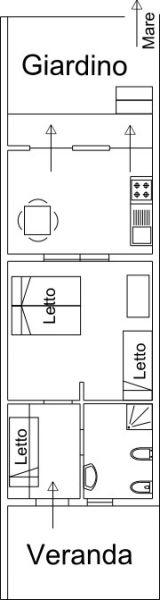 Pianta casa vacanze Affitto Appartamento 82584 Termoli