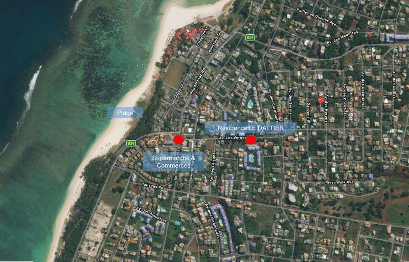 Mappa Affitto Appartamento 111737 Flic-en-Flac