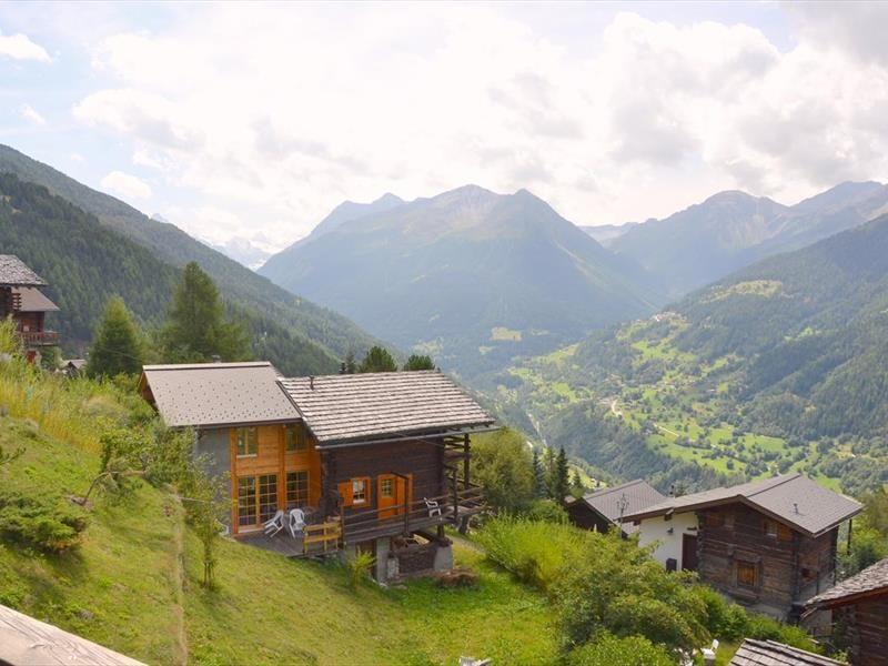 Vista dalla casa vacanze Affitto Chalet 111750 Saint-Luc