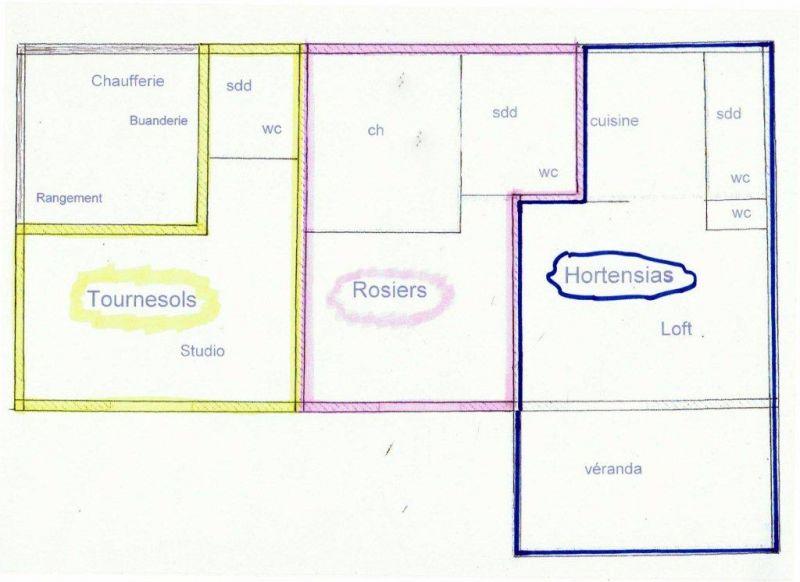 Pianta casa vacanze Affitto Appartamento 72835 Castellane