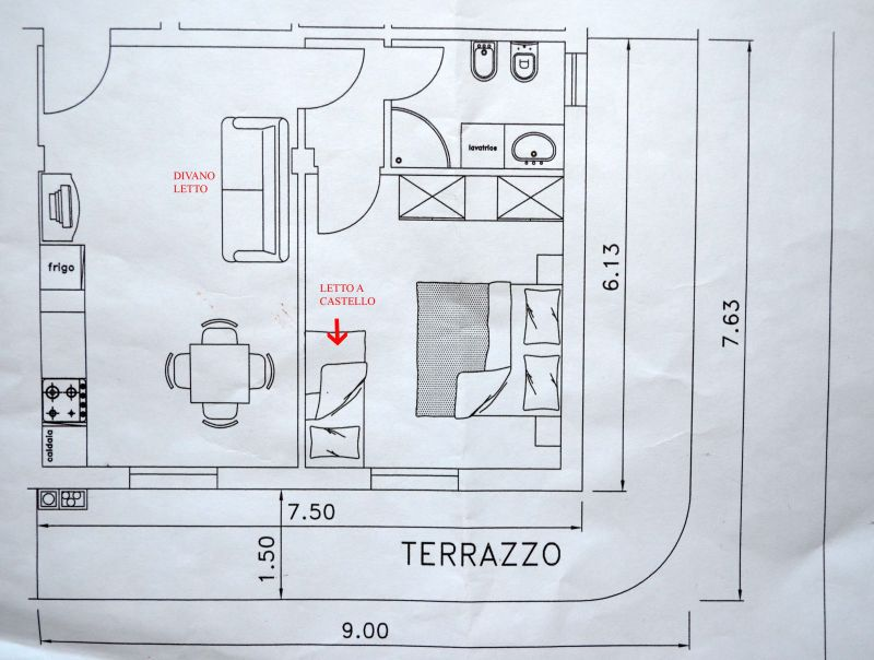 Pianta casa vacanze Affitto Appartamento 81806 Bellaria Igea Marina