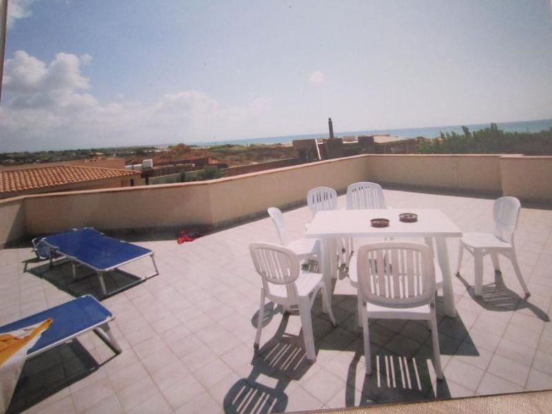 Vista dal terrazzo Affitto Villa  92036 Tre Fontane