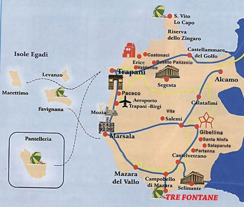 Mappa Affitto Villa  92036 Tre Fontane