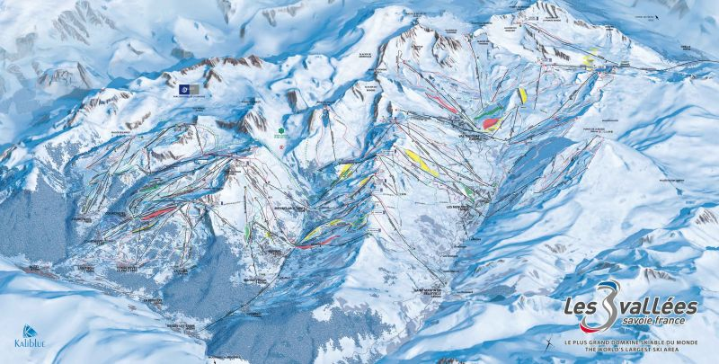 Mappa Affitto Chalet 106839 Courchevel