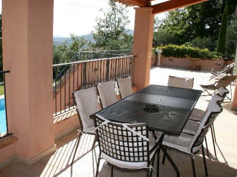 Vista dal terrazzo Affitto Villa  108337 Fayence