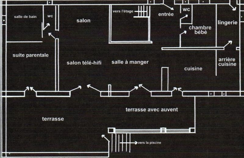 Pianta casa vacanze Affitto Villa  108337 Fayence
