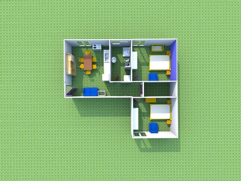 Pianta casa vacanze Affitto Appartamento 68556 Tropea