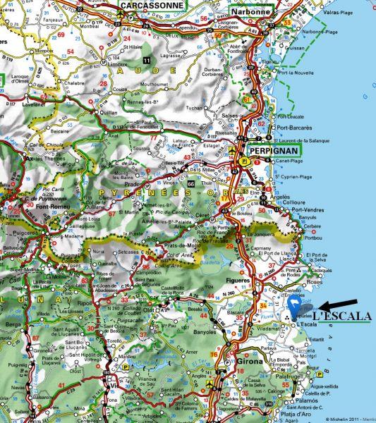 Mappa Affitto Villa  96172 L'escala