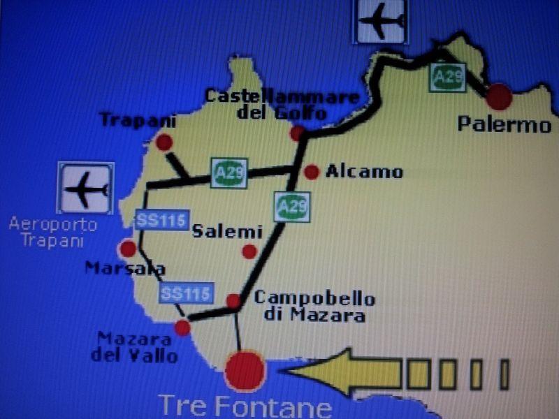 Mappa Affitto Villa  101711 Tre Fontane