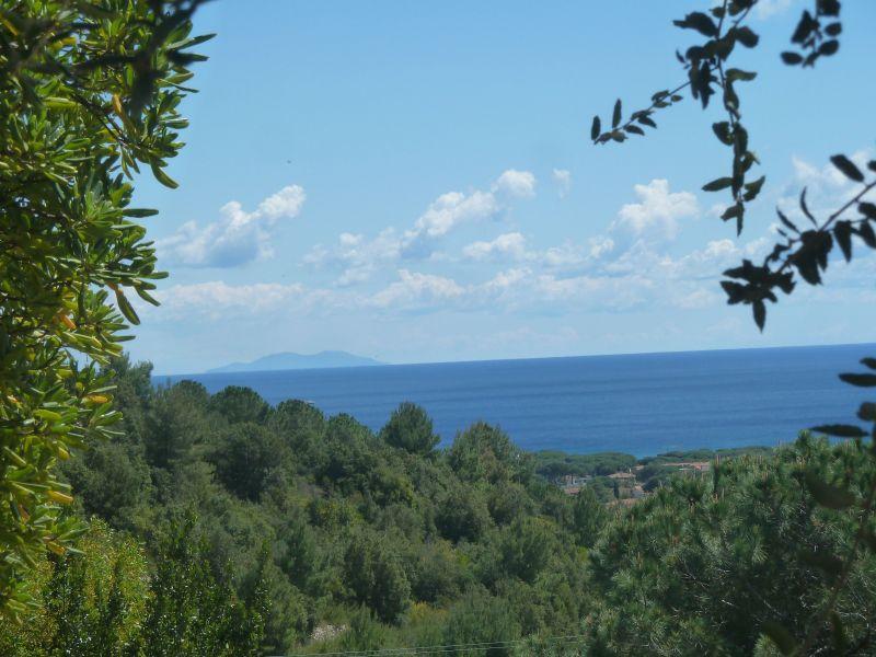 Vista dal terrazzo Affitto Appartamento 115069 Campo nell'Elba