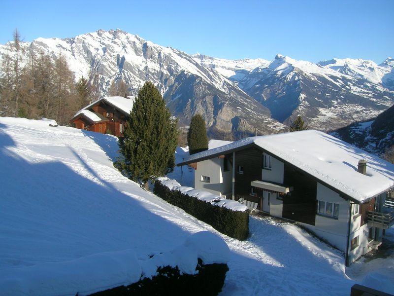 Vista dalla casa vacanze Affitto Appartamento 74081 La Tzoumaz