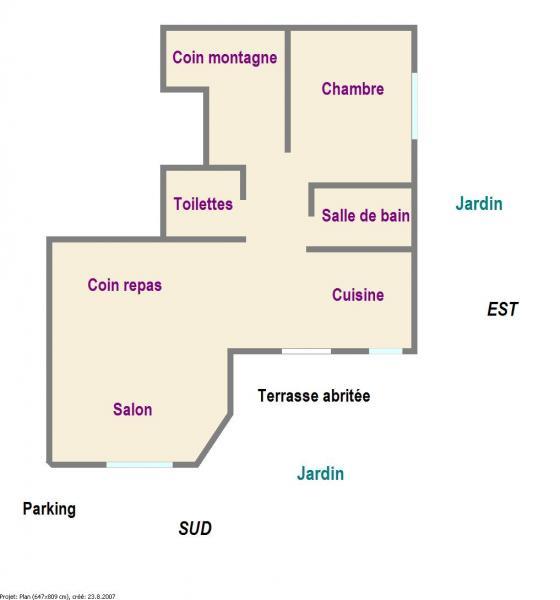 Pianta casa vacanze Affitto Appartamento 78318 Serre Chevalier