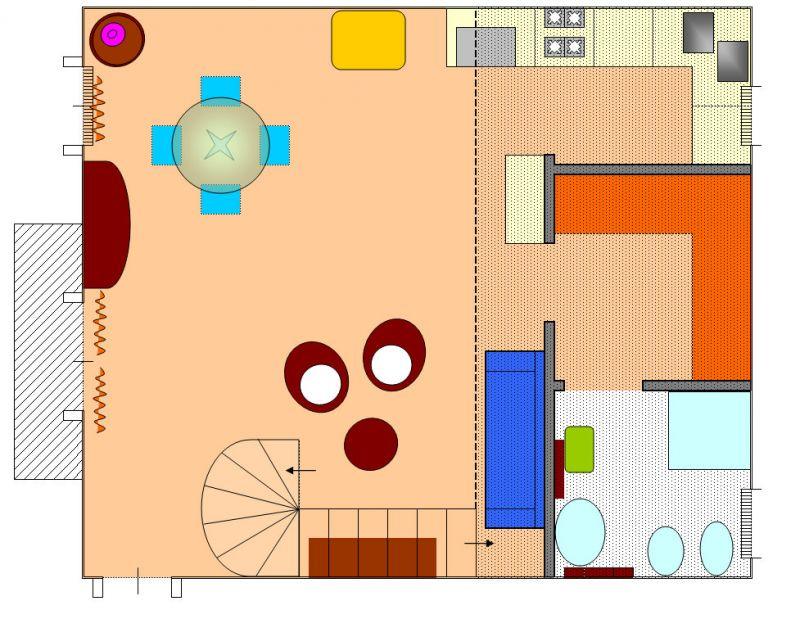 Pianta casa vacanze Affitto Appartamento 85412 Palermo