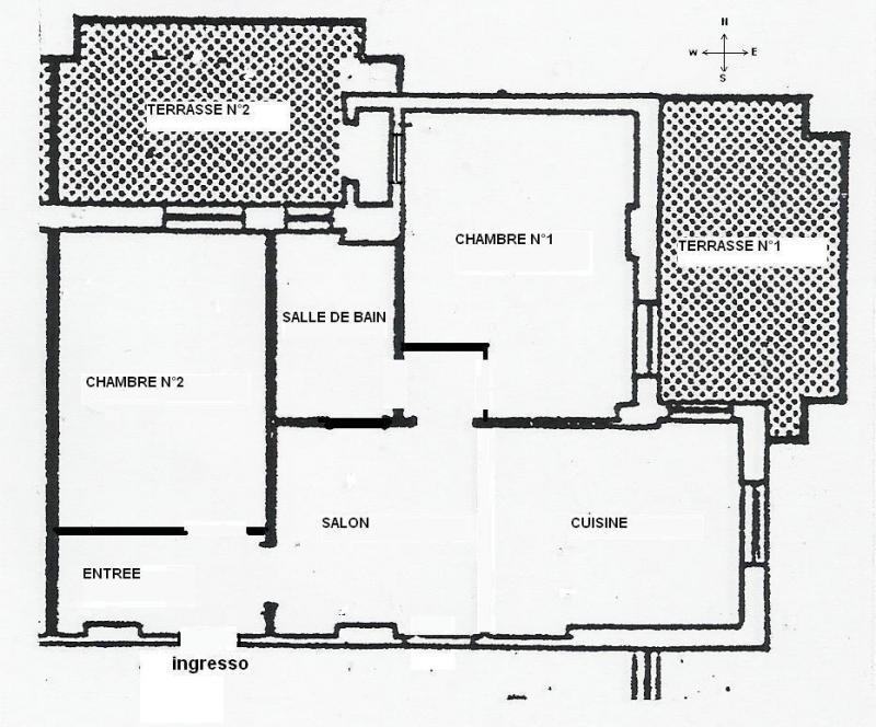 Pianta casa vacanze Affitto Appartamento 87229 Pescara
