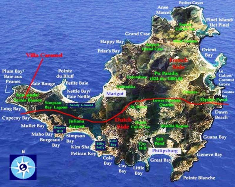 Mappa Affitto Monolocale 108428 Marigot