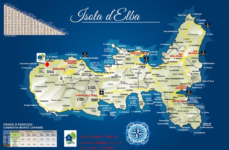 Mappa Affitto Appartamento 69962 Marciana