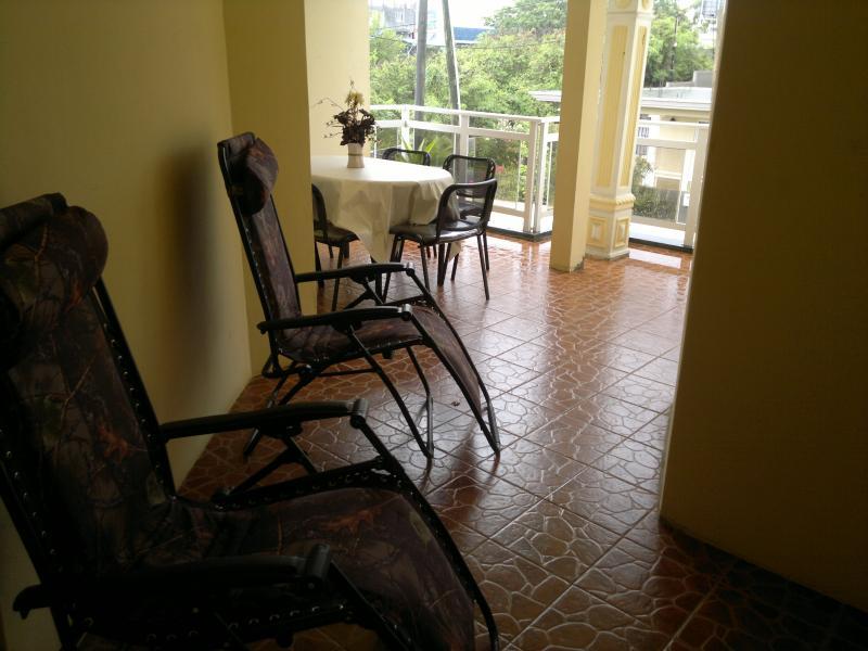 Vista dal terrazzo Affitto Villa  76883 Grand Baie