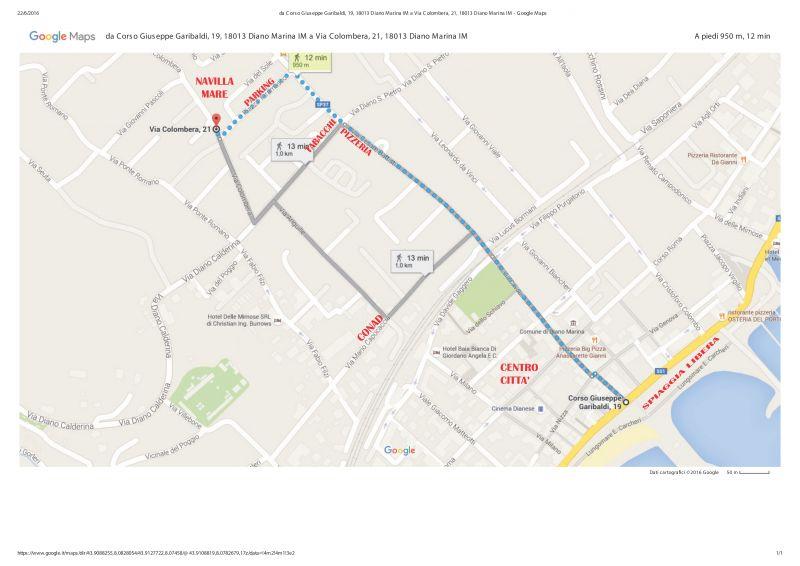 Mappa Affitto Appartamento 94203 Diano Marina