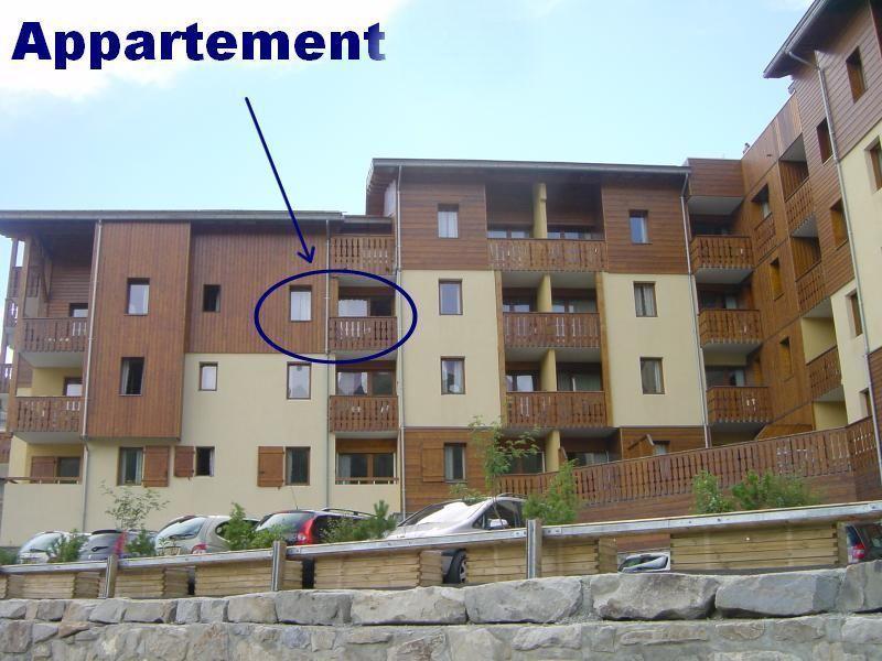 Vista esterna della casa vacanze Affitto Appartamento 80806 Orcières Merlette