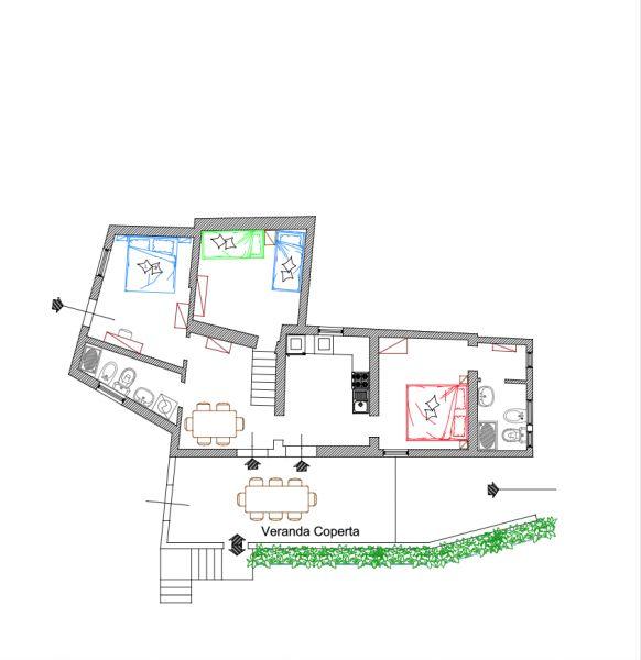 Pianta casa vacanze Affitto Appartamento 85148 Rio nell'Elba