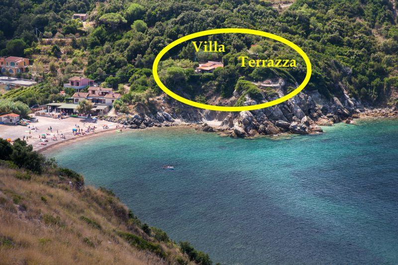 Vista esterna della casa vacanze Affitto Appartamento 85148 Rio nell'Elba