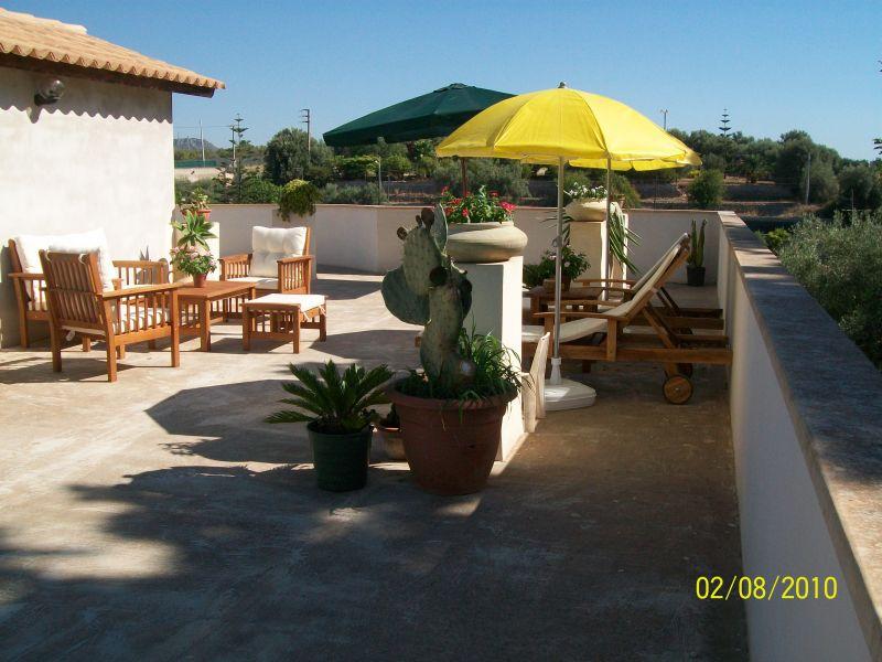 Vista dal terrazzo Affitto Villa  94530 Avola