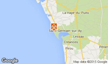 Mappa Saint-Germain-sur-Ay Villa  30390