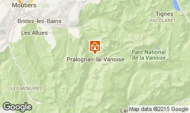 Mappa Pralognan la Vanoise Appartamento 18251