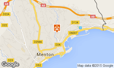 Mappa Menton (Mentone) Appartamento 86464