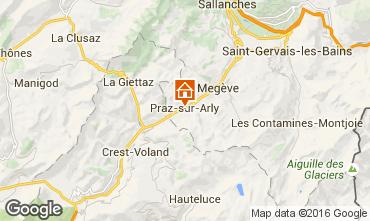 Mappa Praz sur Arly Appartamento 102552