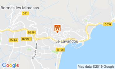 Mappa Le Lavandou Appartamento 119010
