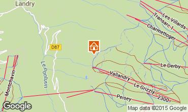 Mappa Peisey-Vallandry Chalet 61935