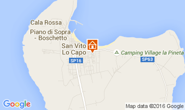 Mappa San Vito lo Capo Appartamento 71585