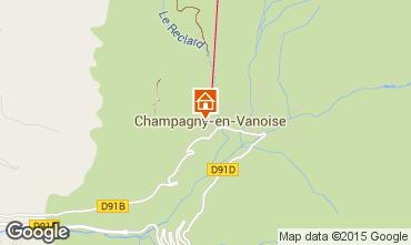 Mappa Champagny en Vanoise Appartamento 69456