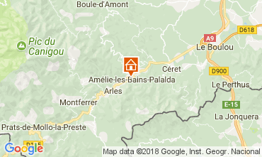 Mappa Amélie-Les-Bains Appartamento 96364