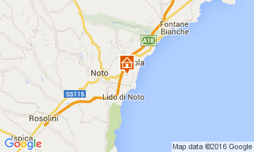 Mappa Noto Villa  105250
