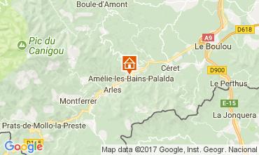 Mappa Amélie-Les-Bains Monolocale 112815
