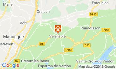 Mappa Valensole Casa 117856