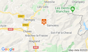 Mappa Morillon Grand Massif Chalet 40631