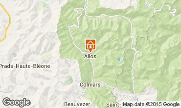 Mappa Val d'Allos Chalet 72610