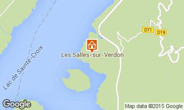Mappa Les Salles sur Verdon Casa mobile 96624