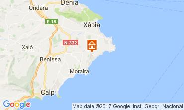 Mappa Moraira Villa  108971